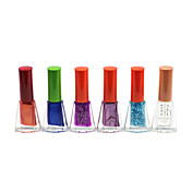 Regular Shining color de esmalte de uñas No.13-18 (4 ml, 6PCS)