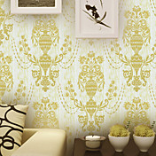 Retro Damask Fiberdug Wall Paper 1301-0040