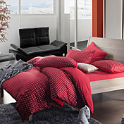 Morden Red Flannel Pontos Full / Queen / King 4-Piece Set Duvet Cover