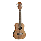 TOM - (TUC-700E) Laminated Koa Concert Electric Ukulele with Bag