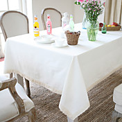 Linen/Rayon Table Cloth In Different Solid Color