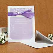 Elegant Style Wedding Invitation With Ribbon (Set of 50)