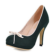 Elegant Suede Stiletto Heel Pumps/Closed Toe With Bowknot Party/Evening Shoes (More Colors)