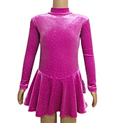 Korea Velvet Figure Skating Clothing Rose