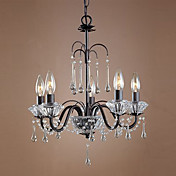 60W Contemporary Chandelier with 5 Lights in Candle Feature