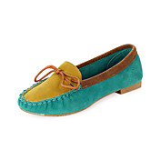 Suede Flat Heel Loafers & Slip-Ons With Split Joint Honeymoon Shoes (More Colors)