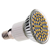 E14 60x3528 SMD 3.5W 400LM 2800-3200K Warm White Light LED Spot Bulb (220-240V)