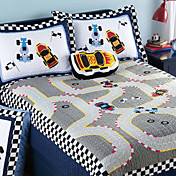 3PCS Racing Theme Baumwolle in voller Quilt Set