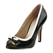 Chic Leatherette Stiletto Heel Peep Toe med partiet / Evening Sko