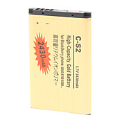 2430mAh High-Capacity Gold Battery C-S2-GD for BlackBerry Phone C-S2