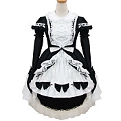 Princess Long Sleeve Short Cotton Shiro& Kuro Lolita Dress