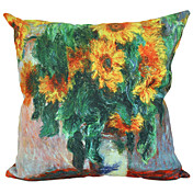Floral Sunflower Suede Decorative Pillow Cover