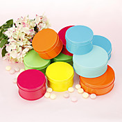 Simple Round Matel Favor Tin - Set of 6 (More Colors, More Sizes)
