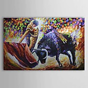 Hand Painted Oliemaleri Animal Bullfight 1303-AN0062