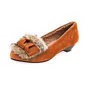 Suede Low Heel Loafers &amp; Slip-ons With Fur Party / Evening Shoes (More Colors)