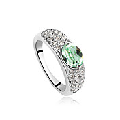 Charming Platinum Plated Alloy And Crystal Ring(More Colors)