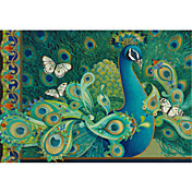 Printed Art Paisley Animal Peacock by David Galchutt