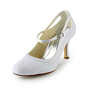 Pretty Satin Stiletto Heel Pumps With Buckle Wedding Shoes (More Colors)