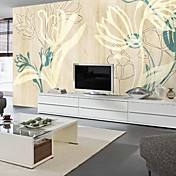 Dried Floral Botanical Nature Mural