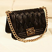 Women's Black Fashion Euramerican Woven Crossbody