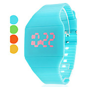 Unisex Rubber Digital LED Wrist Watch (Assorterede farver)