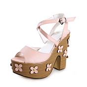 Chic Leatherette Chunky Heel Sandals With Flower Casual / Party / Evening Shoes (More Colors)