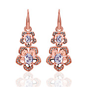 Classic Rose Gold/Platinum Plated Crystal Chandelier Earrings(More Colors)