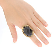 Retro oval form Alloy Resin Piggdekk Ring