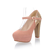 Suede Chunky Heel Pumps With Buckle Party / Evening Shoes (More Colors)
