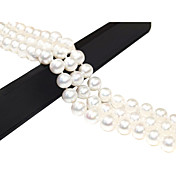 3 Rows Gorgeous White Fresh Whater Pearl Wonen's Bracelets