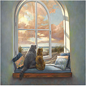 Printed Art Animal Enjoying the View by Lucie Bilodeau