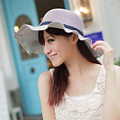 Frauen Sommer-Super-Big Wave Brim UV Faltbare Bow Sunhat