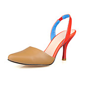 Beautiful Leather Stiletto Heel Closed Toe Party / Evening Shoes (More Colors)