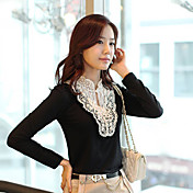 Women's Front Crochet Lace Blouse Shirt