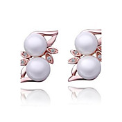 Unique Rose Gold/Platinum Plated Irregular Pearl Earrings(More Colors)