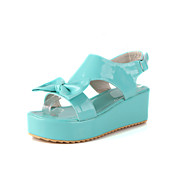 Patent Leather Platform Heel Sandals With Bowknot Party / Evening Shoes (More Colors)