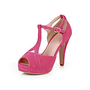 Suede Stiletto Heel Peep Toe With Buckle Party / Evening Shoes (More Colors)