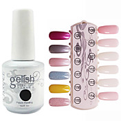 Lentejuelas 1PCS UV Gel Color Nail Polish No.109-120 Soak-off (colores surtidos, 15 ml)