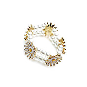 Fine Alloy With Imitation Pearl Women's Bracelets