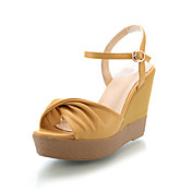 Leatherette Wedge Heel Sandals With Buckle Party / Evening Shoes (More Colors)