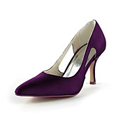 Fashion Satin Stiletto Heel Pumps With Hollow-out Wedding Shoes (More Colors)