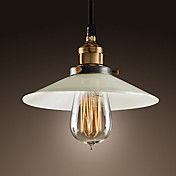 60W Minimalist Modern Pendant Light with Glass Shade and Adjustale Chain(E27/E26 Base)