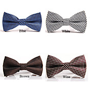 Men's Fashion High Quality Houndstooth Bow-tie