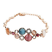Chic 18K Gold plated with Opal Women's Fashion Bracelets