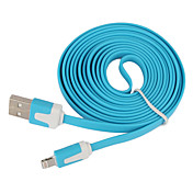 Foudre 8Pin Colorful Charge et Data Cable plat pour l'iPhone 5, iPad Mini, iPad 4, iPod (200cm de longueur)