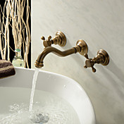 antikk inspirerte bathroom sink tappekran (polert messing finish)