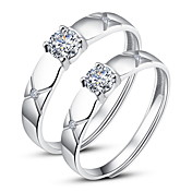 925 Sterling Silver Cubic Zirconia Couples Rings