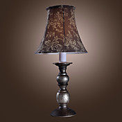 40W Painting Finished Table Light with Floral Fabric Pattern Shade