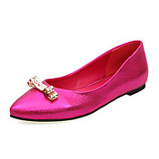 Chic Leatherette Flat Heel Pointy Toe With Bowknot Party / Evening / Casual Shoes (More Colors)