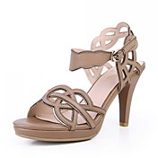 Fashion Leather Chunky Heel Sandals Party / Abend Schuhe (weitere Farben)
